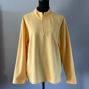 Women's Yellow Liz Claiborne fleece sweater